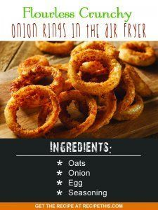 Airfryer Recipes Flourless Crunchy Onion Rings In The Air Fryer