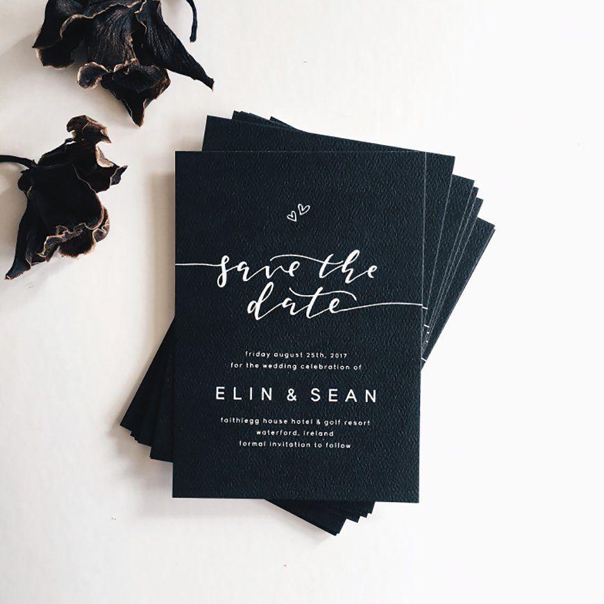 Black And White Wedding Invitations | Wedding Ideas By Colour | CHWV