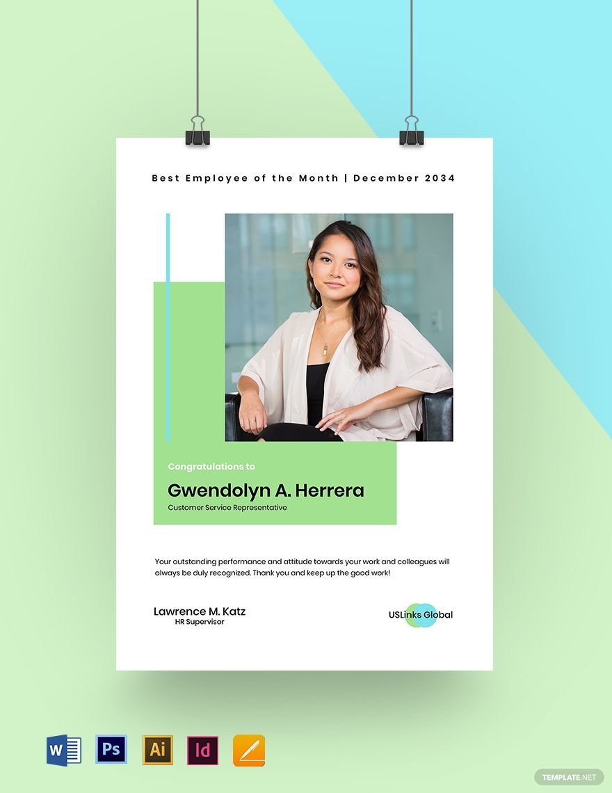 Best Employee Of The Month Poster Template Free Jpg Illustrator Indesign Word Apple Pages Psd Template Net Good Employee Poster Template Poster Template Free