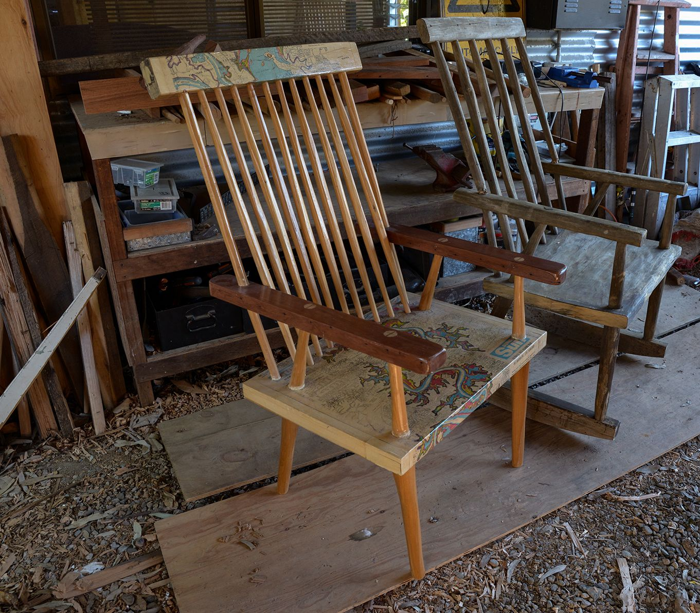 Bodja Chairs Are Handmade From Salvaged Timber With Connections To Memory And Place These