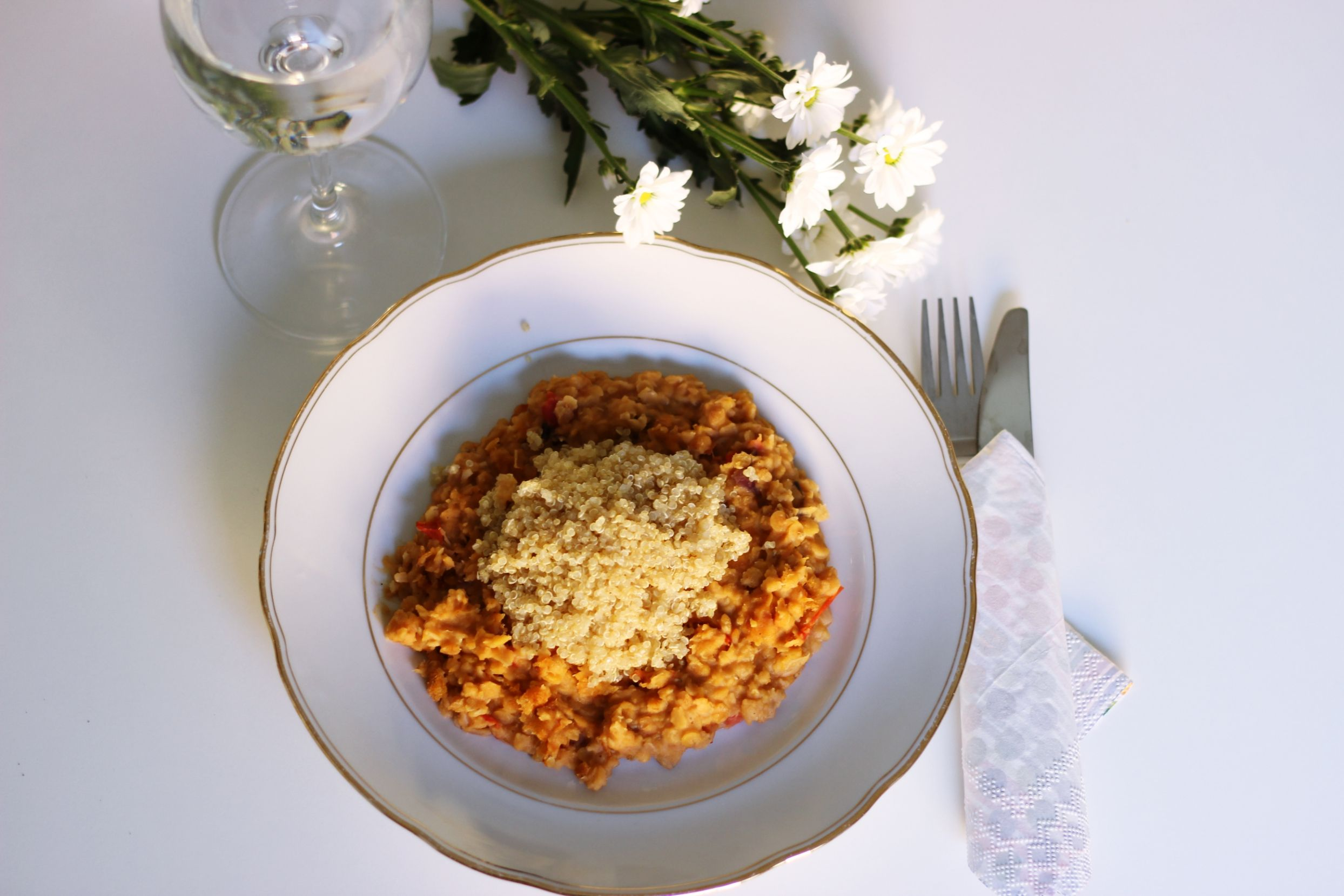 Red Lentils Curry with Quinoa Recipe on Style Edge