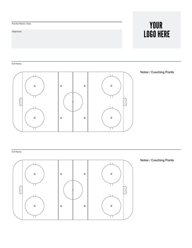 Blank Hockey Practice Plan Template (7) - TEMPLATES ...
