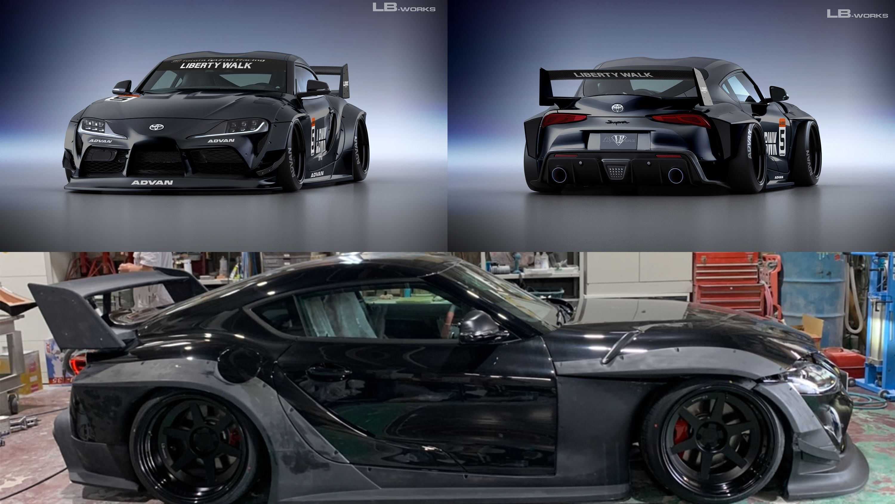 Liberty Walk Has Created The Craziest Wide Body Kit For The 2020 A90 Toyota Supra Top Speed In 2020 Toyota Supra Wide Body Wide Body Kits