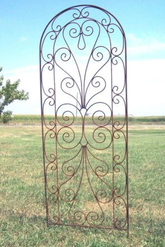 Wrought Iron Heart Trellis Pretty Metal Support For Vines Garden