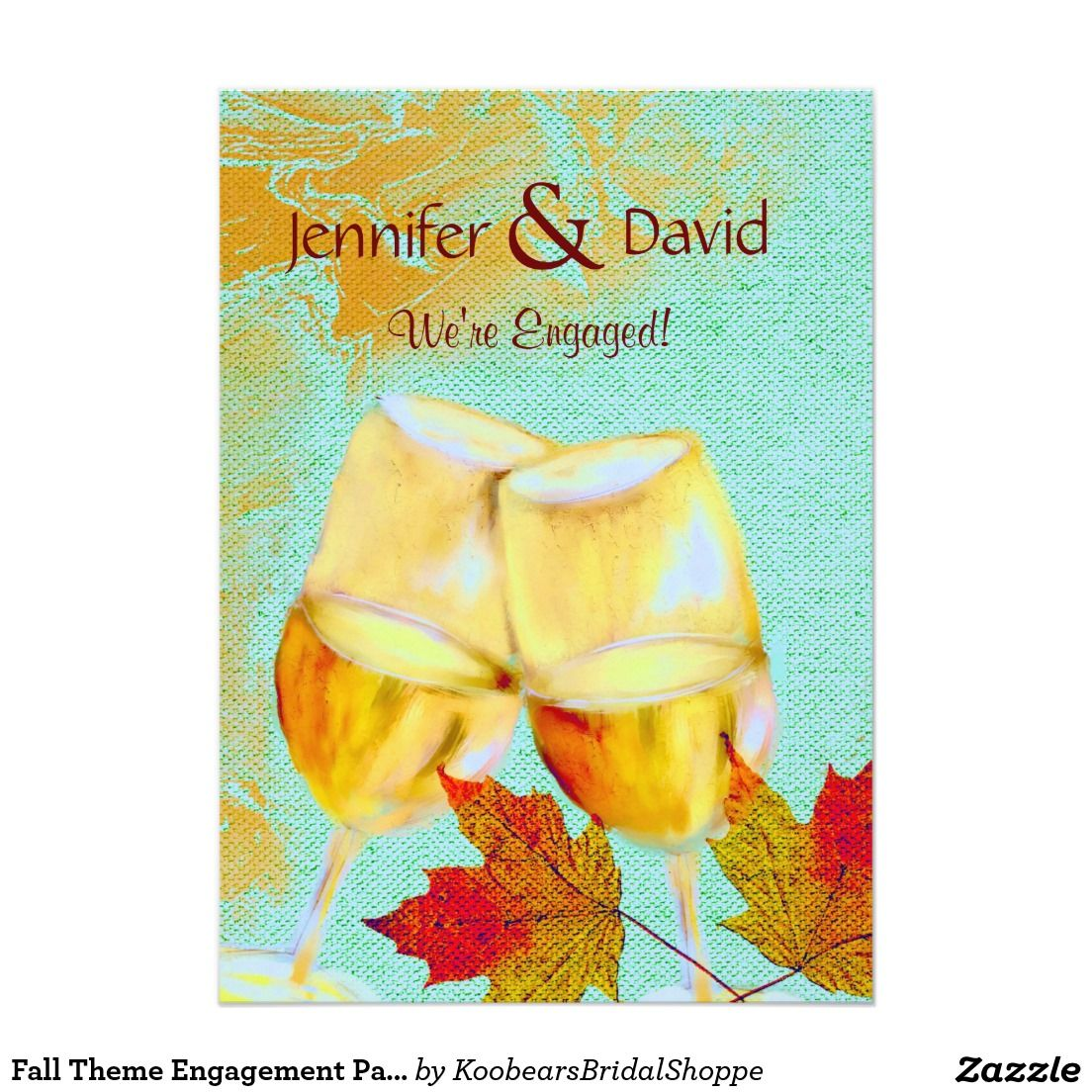 Fall Theme Engagement Party Invitation