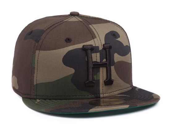 ed8e1444a6c Woodland Camo Classic H 59Fifty Fitted Cap by HUF x NEW ERA ...