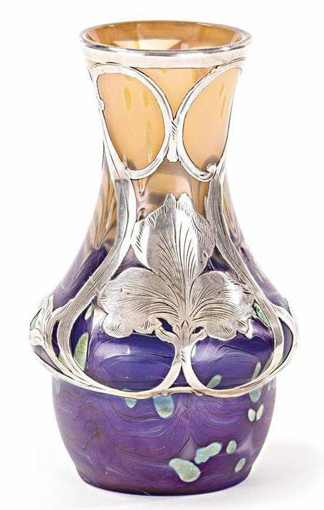 A Jugendstil vase, by Lötz Witwe, Klostermühle, circa 1902.