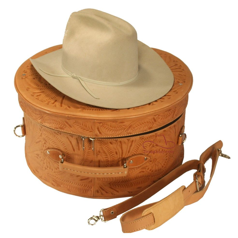 Natural cowboy hat box | Luggage | Leather cowboy hats