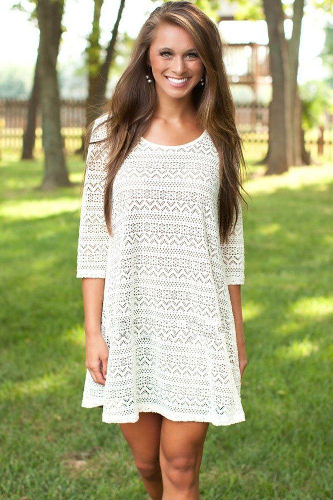 c261c00f3577 Lace Sleeved Swing Sheer Dress 3 4 Sleeves Black Dress