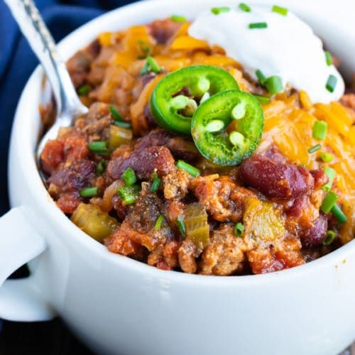 10 Easy Ground Turkey Recipes Chili Burgers Meatloaf: Instant Pot Turkey Chili
