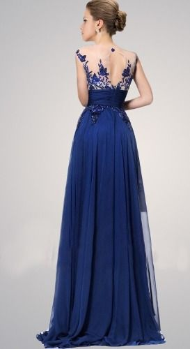 El largo de un vestido de noche