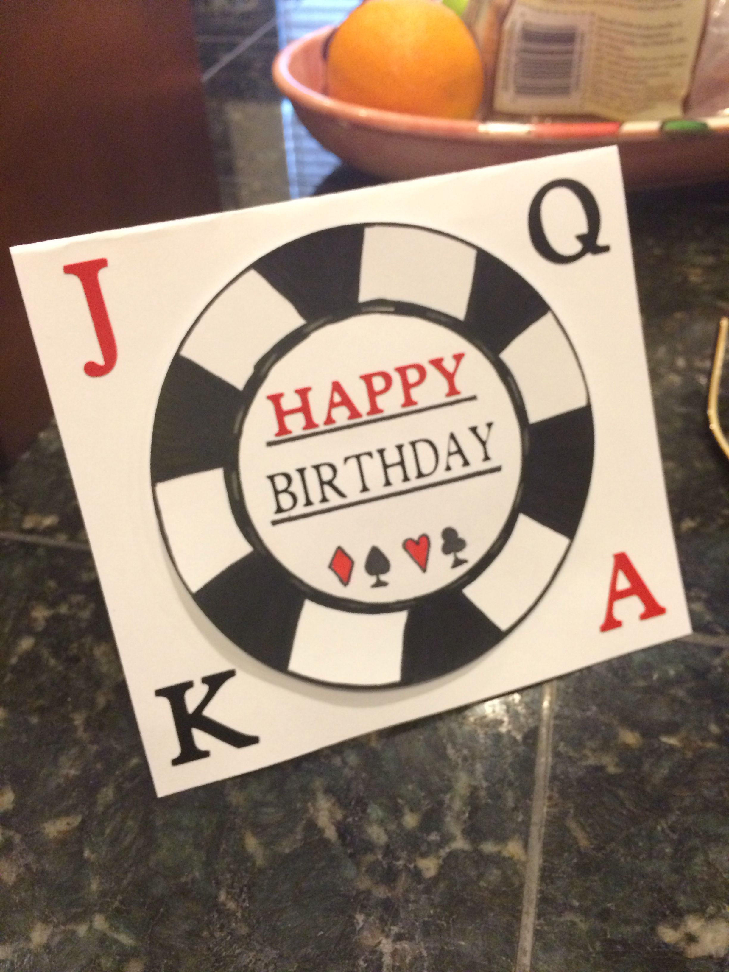 Poker Themed Birthday Card Cards Tanyas Creations – Poker Birthday Cards
