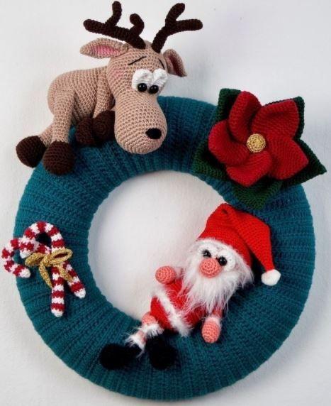 Photo of Ghirlanda natalizia con varie figure decorative – istruzioni all'uncinetto via Ma …