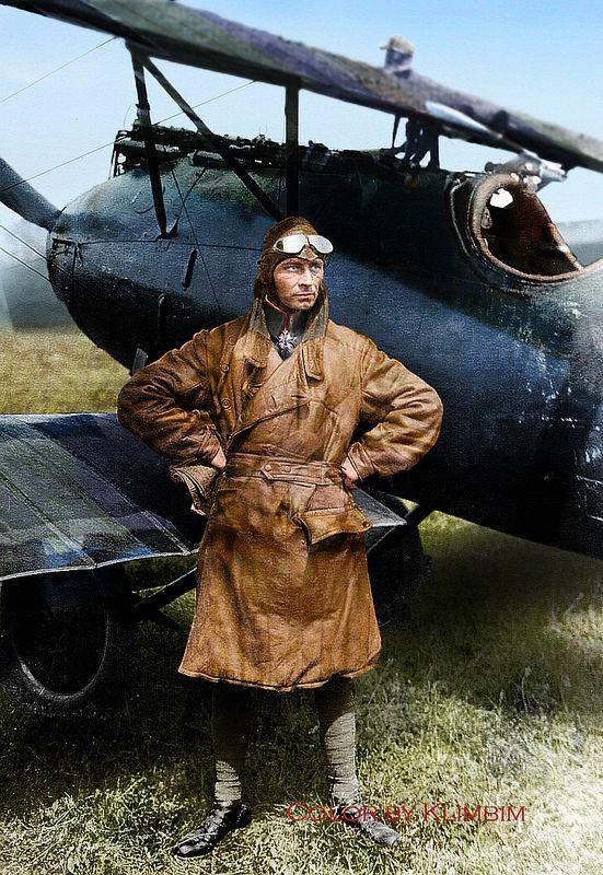 Eduard Ritter Von Schleich My Colorizations Flugzeug