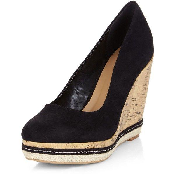 Cork wedges shoes, High heel sandals