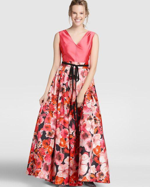 Vestido largo de mujer Yera con efecto dos piezas | Dresses | Pinterest
