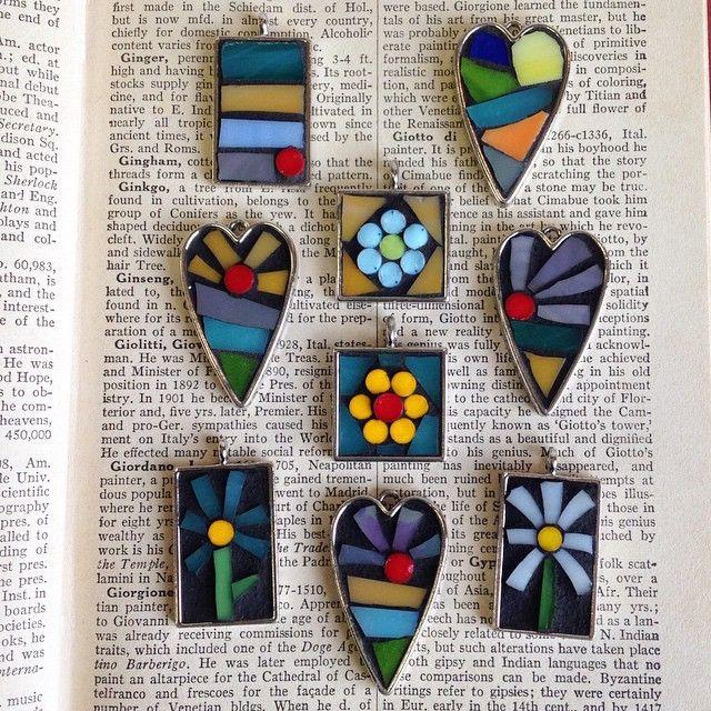 Sweet little mosaic pendants!