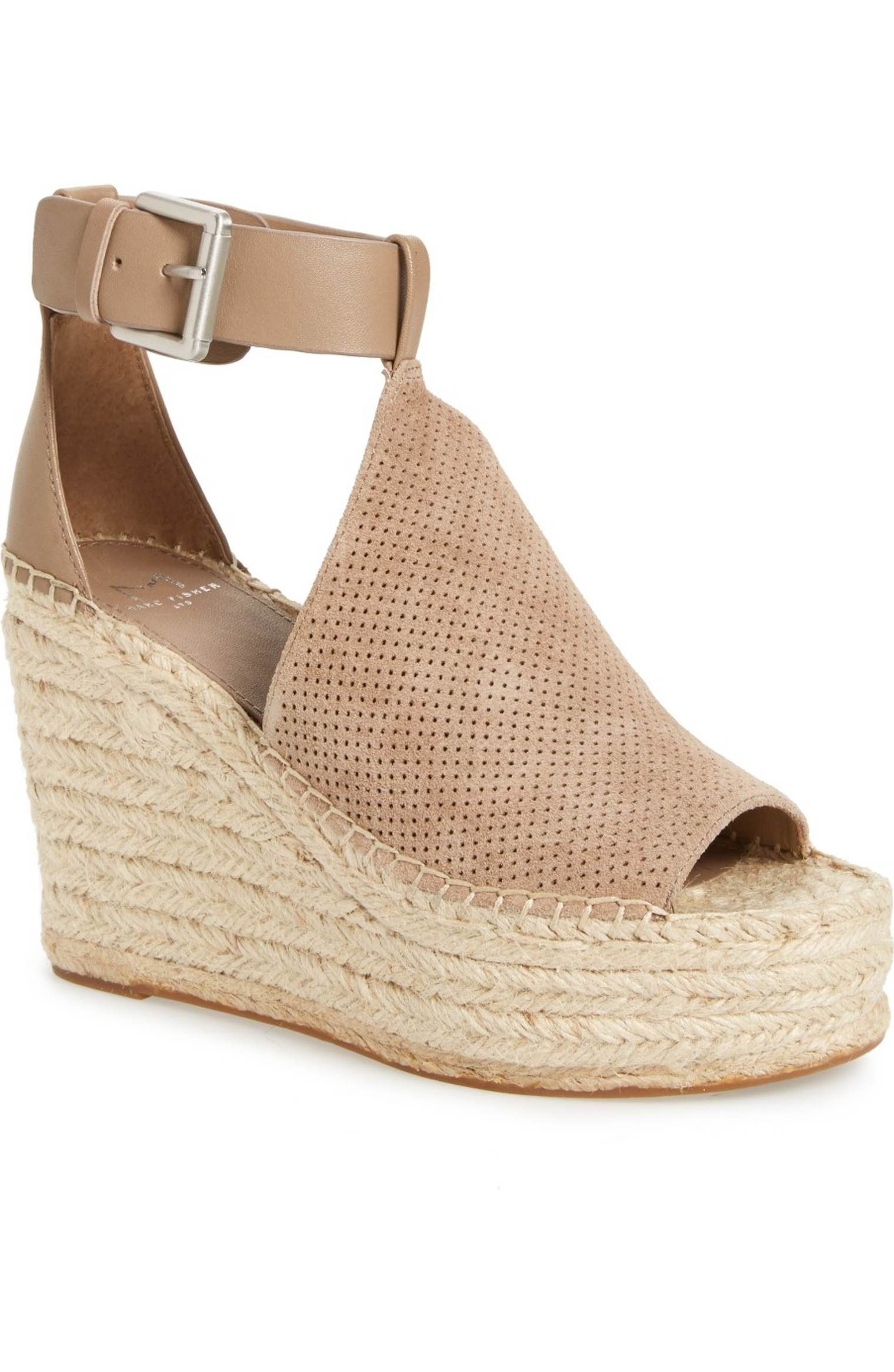 c4305585992 Main Image - Marc Fisher LTD Annie Perforated Espadrille Platform ...