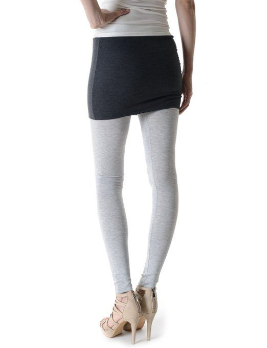e793a92b9215ef TheLees Womens Slim Fit Footless Skirt Attached Leggings at Amazon Women's  Clothing store: