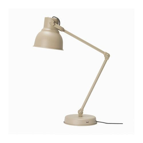 Hektar Work Lamp With Led Bulb Beige In 2019 Work Lamp Ikea Bulb
