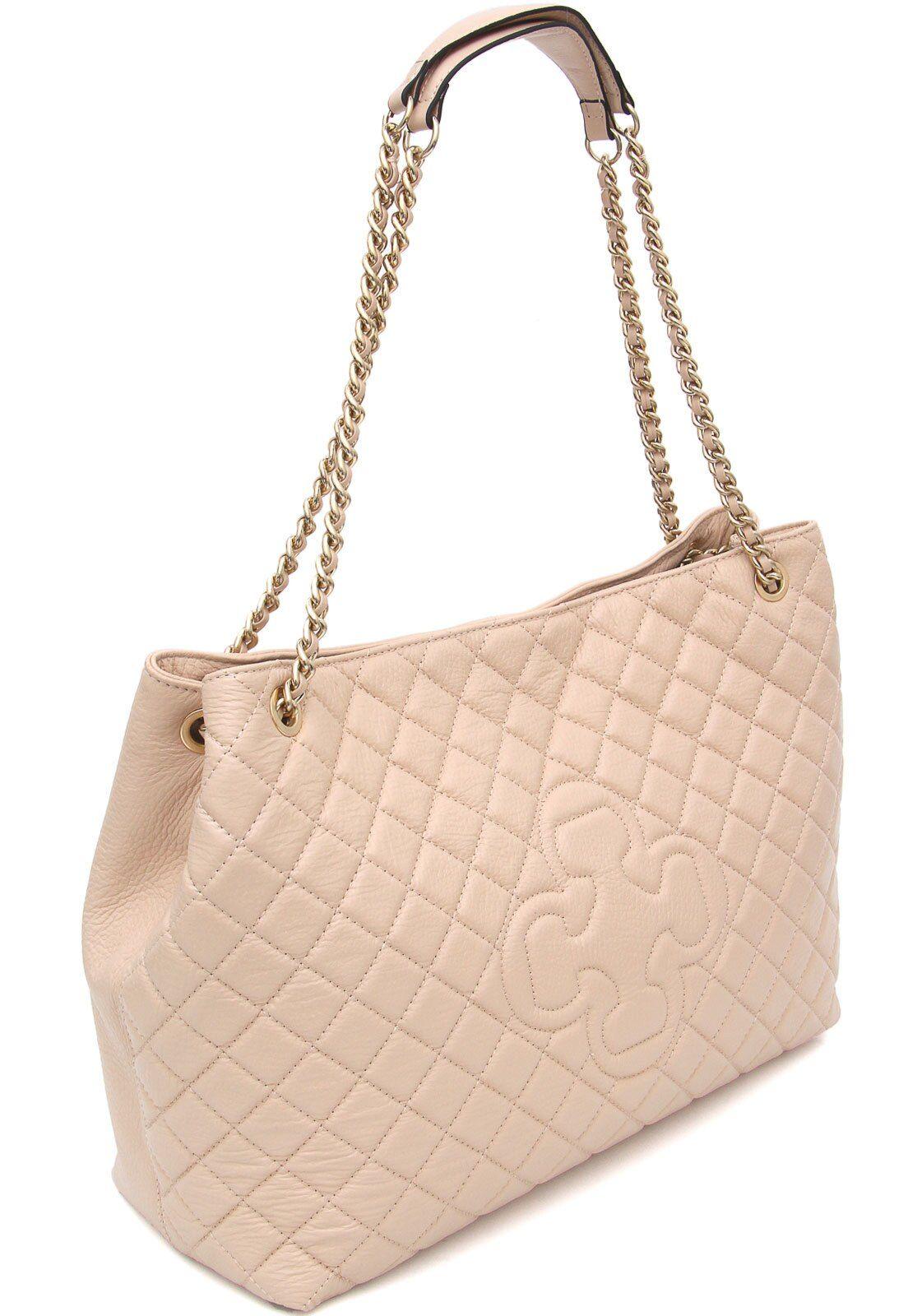 Bolso Capodarte Matelassê de cuero rosa