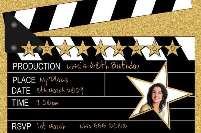 Hollywood Party Invitations Wording Ideas