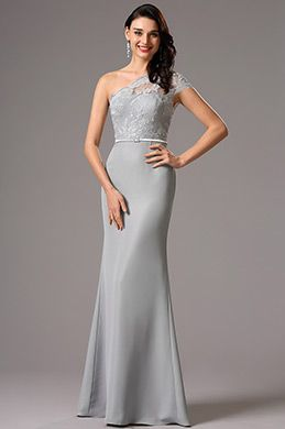 Half Sleeves Blue Embroidered Evening Dress Formal Gown (02161105)