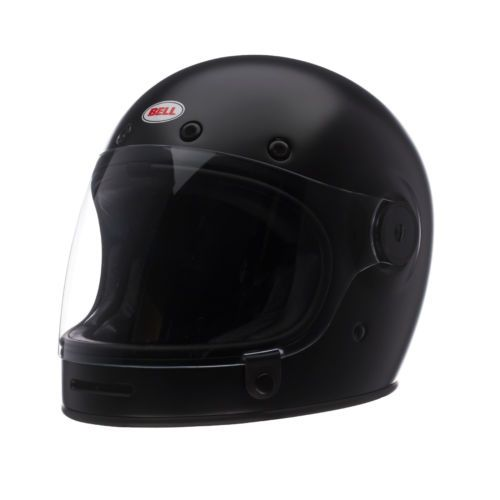 #apparel Bell Matte Black Adult Bullitt Solid Full Face Retro Motorcycle Helmet please retweet