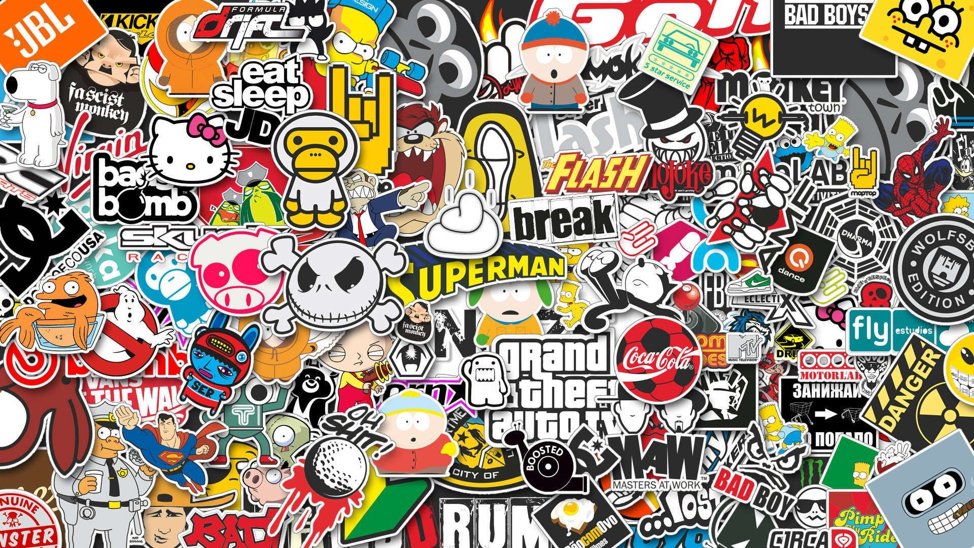 Cool Sticker Wallpaper