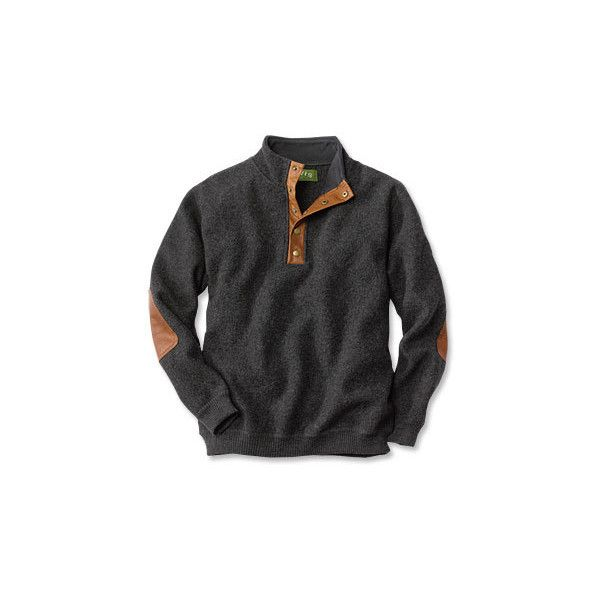 Boiled-Wool Snap-Front Pullover ($39) found on Polyvore | Fashion ...