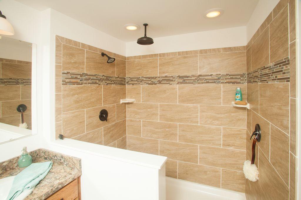 4 x 6 shower design. Pennwest Homes Magnifique LX128A  Cambridge Ranch Collection Master Bathroom 4 x6 Walk