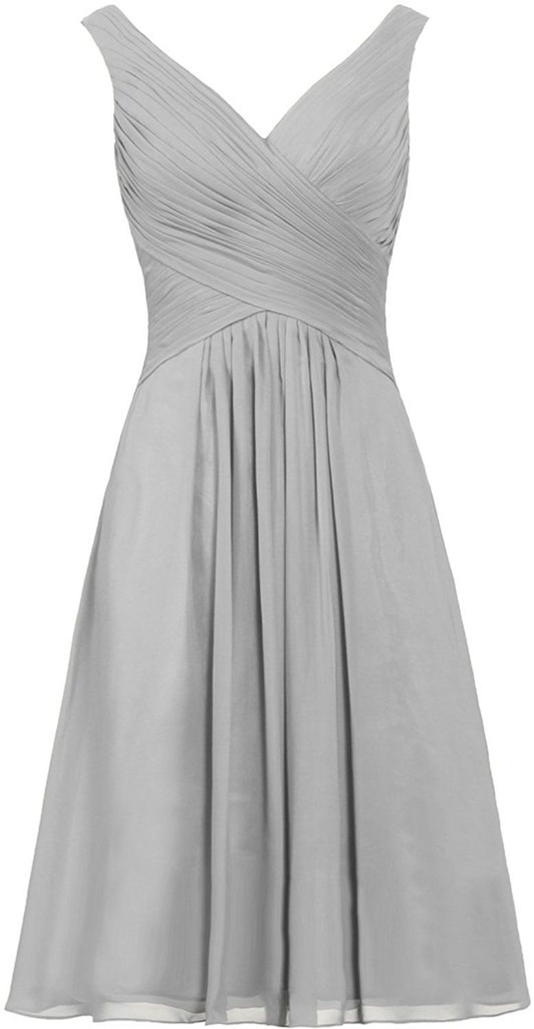 ANTS Women's Tanks Straps Bridesmaid Dresses Short Chiffon Prom Dress -- Stop everything and read more details here! : Bridesmaid Dresses