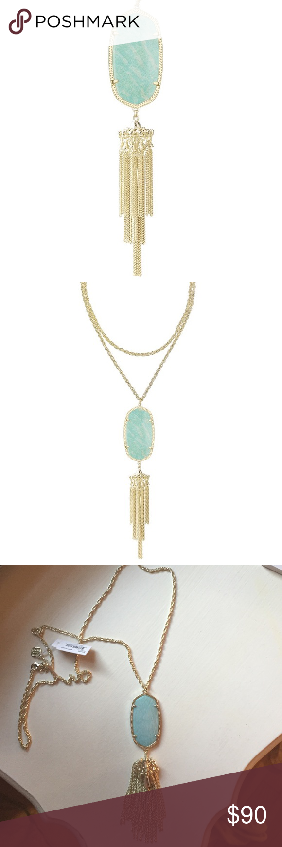 Rayne necklace in Amazonite Gorgeous in person- match the Alex earrings in my closet Kendra Scott Jewelry Necklaces