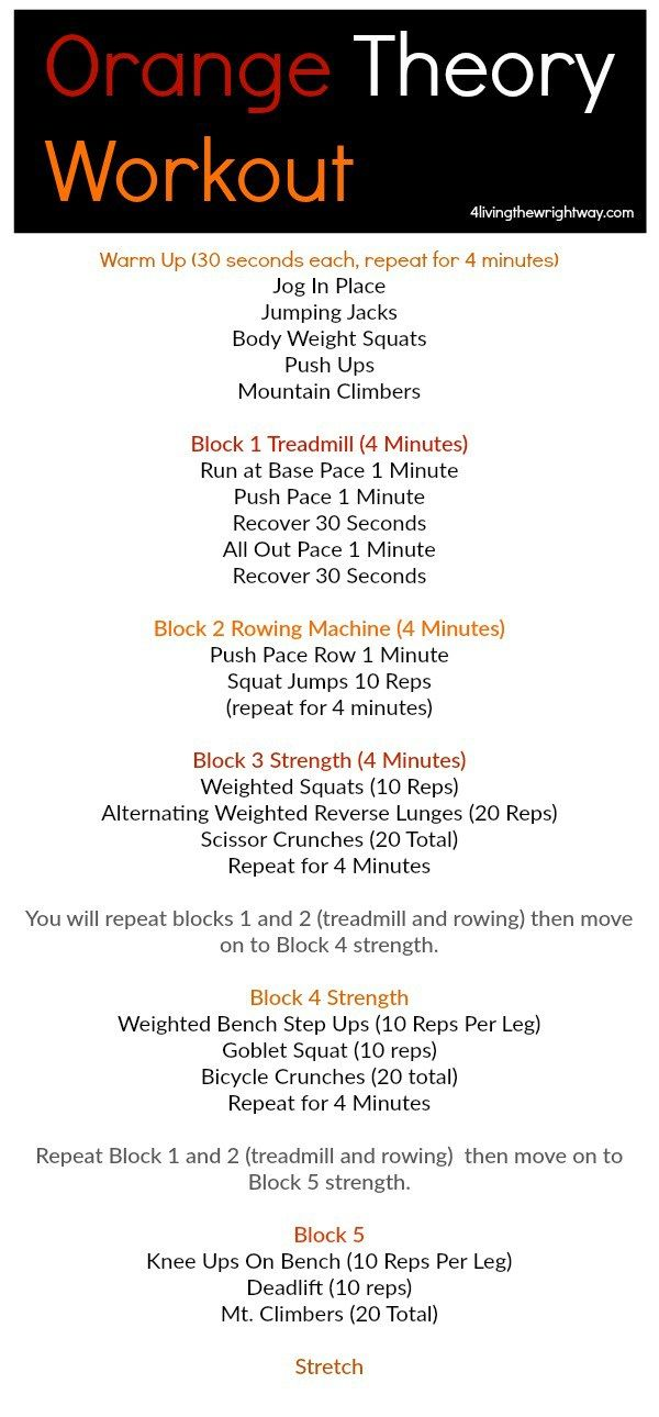 another orange theory inspired workout by 4livingthwrightwayorange theory workout