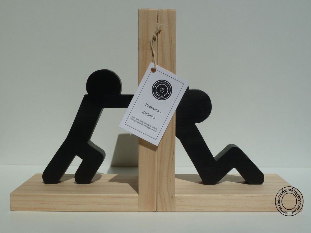 nice Cool Book Ends Part - 5: Fun Stickman Bookends - Stickmen Book Ends - Home Decor - Modern Cool  Bookends