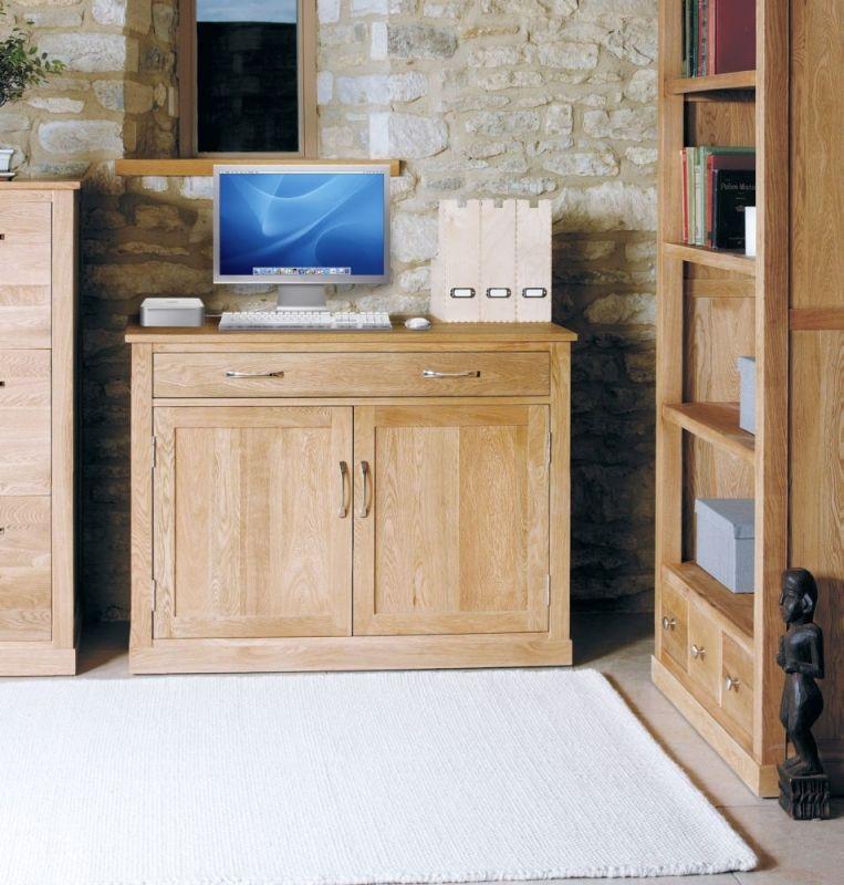 baumhaus mobel solid oak extra. Baumhaus Mobel Oak Hidden Home Office #Oak #HomeOfficeDesk #Assembled - Brand New Innovative Computer Desk Workstation, Designed To Hide Solid Extra