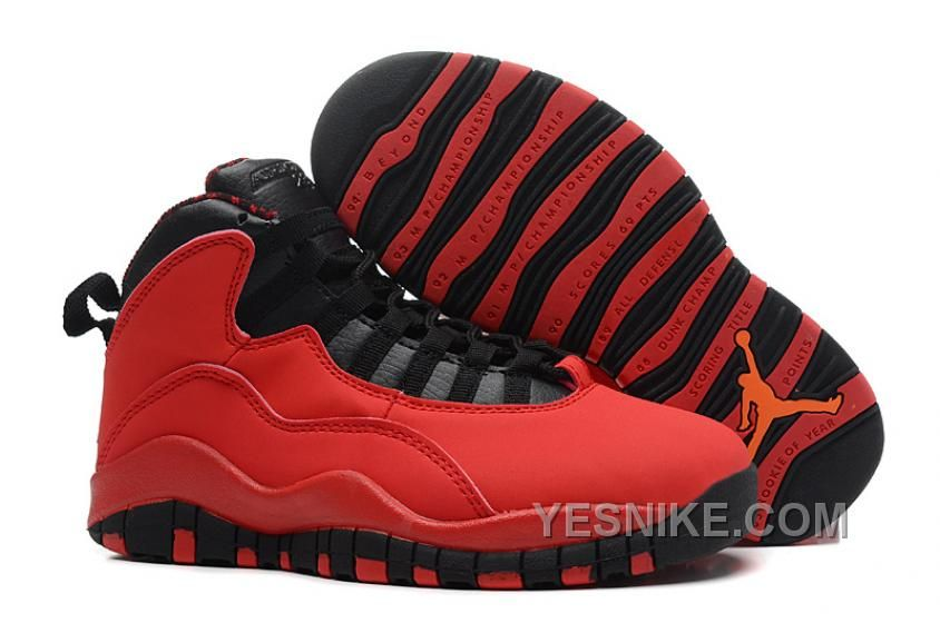 ac1f23acb87d Air Jordan 10 Retro Basketball Shoes Women Red Black Jordan 10