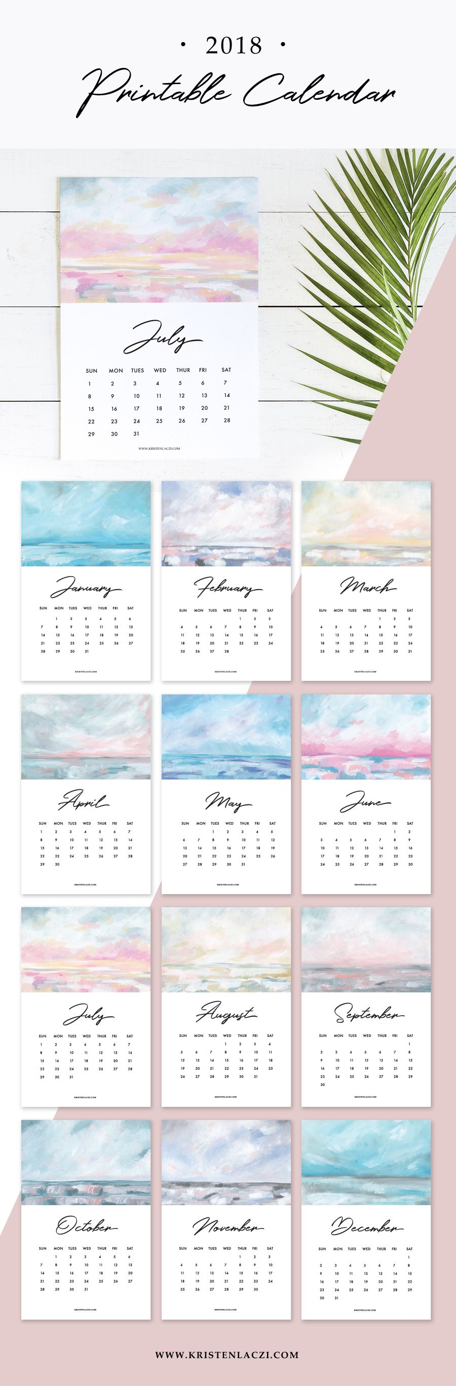 Printable Calendar  Printable Calender Planners And Bullet
