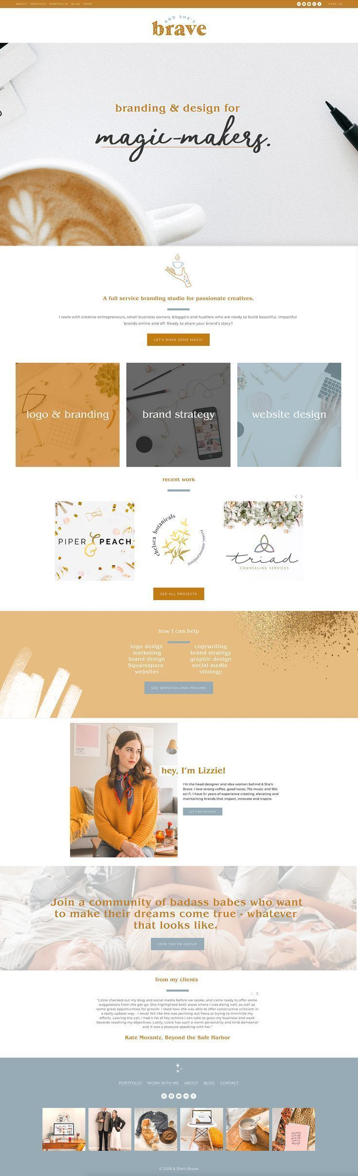 Brand Identity And Website With Images Custom Web Design Web