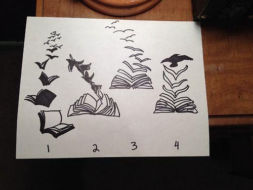 Pin By Heather Lister On Tattoo Book Tattoo Bird Tattoo Wrist Creative Drawing
