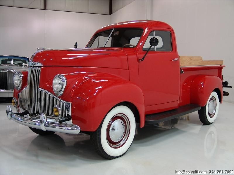 1948 STUDEBAKER M5 PICK-UP TRUCK, I would like this in deep turquoise. All new underneath, just old on top. Nice.