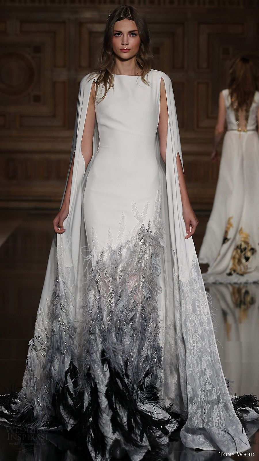 ad0403784 tony ward couture fall 2016 magnificent jewel cape a line gown (40) mv