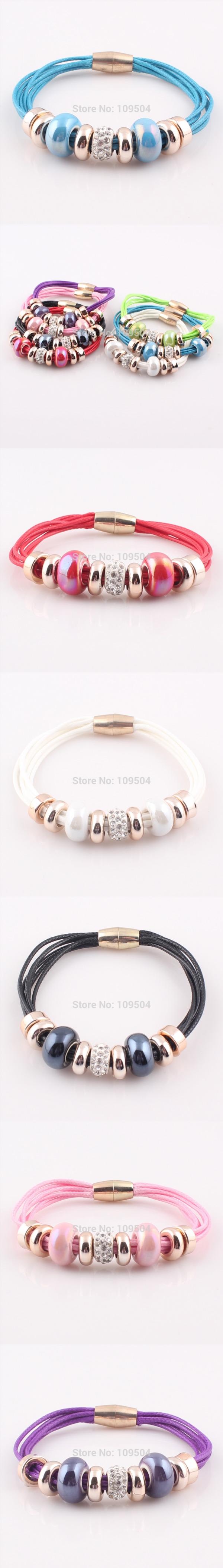 Bracelet wholesale new fashion jewelry leather bracelet for