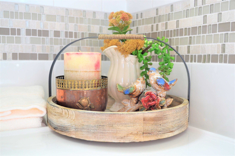 Rustic Bath Set  Decorative Bathroom Vignette  Bathroom Gift Set