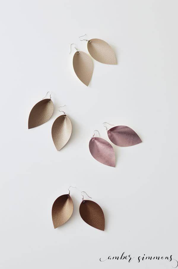 DIY Faux Leather Magnolia Inspired Teardrop Earrings ...