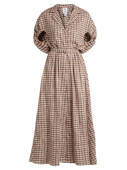 Rosie Assoulin Have the Wind at Your Back gingham dress ...