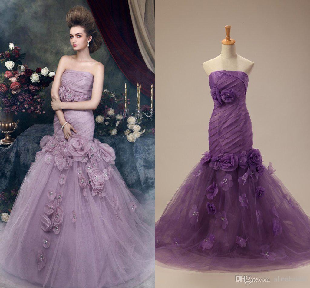 New Purple Lace Wedding Dress Check more at http://svesty.com/purple ...