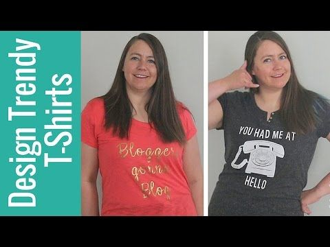 d5c1eb067 How to Design Trendy T-shirts with Cricut - YouTube   DIY T-shirt ...