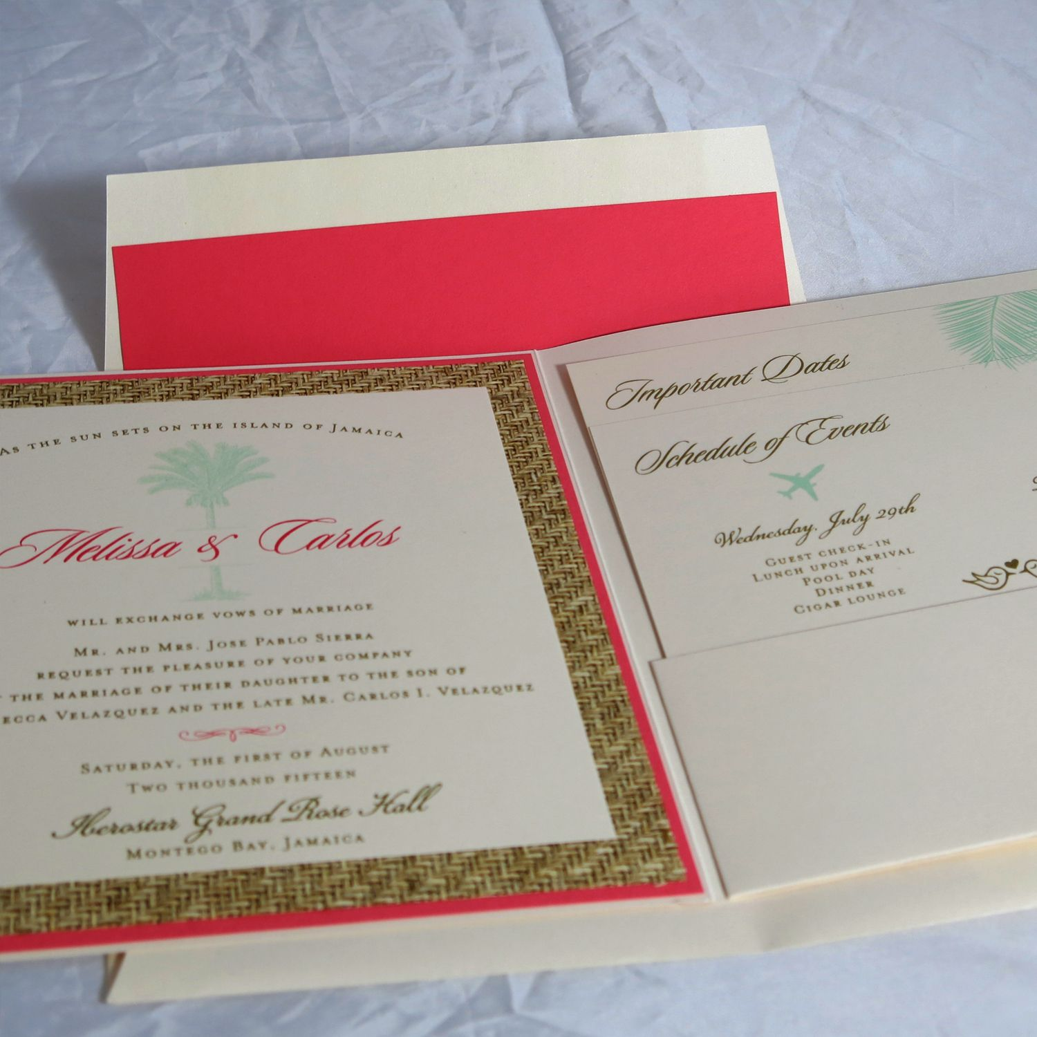 For a Fall wedding, only a beautiful Auburn metallic pocketfold ...