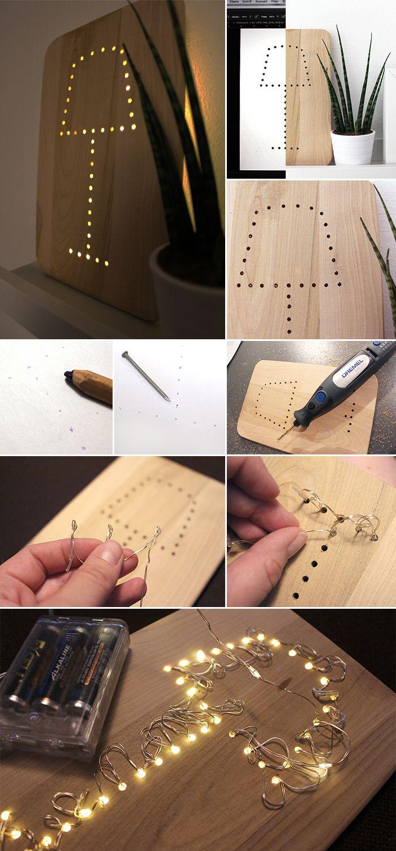 do it yourself aus einem fr hst cksbrettchen eine lampe bauen workbench pinterest. Black Bedroom Furniture Sets. Home Design Ideas